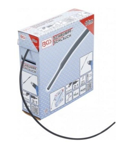 Schrumpfschlauch-Box | schwarz | Ø 2,5 mm | 10 m