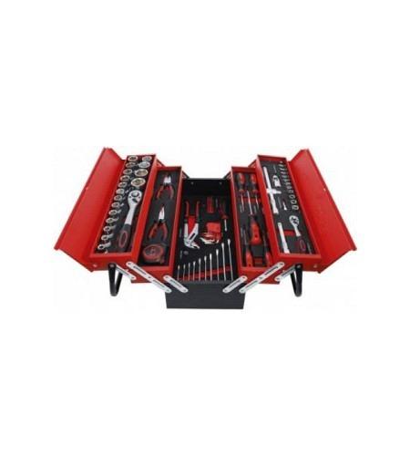 Metall-Werkzeugkoffer inkl. Werkzeug-Sortiment   86-tlg.